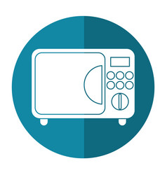 microwave electric appliance shadow vector image