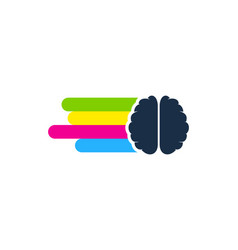 mind paint logo icon design vector image