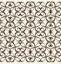 monochrome seamless pattern in arabesque style vector image
