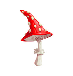 Mushroom icon fly agaric halloween vector