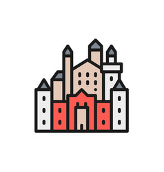 neuschwanstein castle landmark hohenschwangau vector image