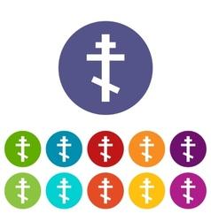 Orthodoxy flat symbol vector