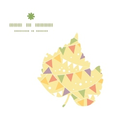 party decorations bunting leaf silhouette pattern vector image