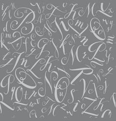 pattern modern hand written alphabet vector image