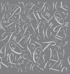 Pattern of modern hand written alphabet vector