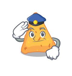 Police nachos character cartoon style vector