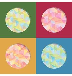 polygon frames vector image