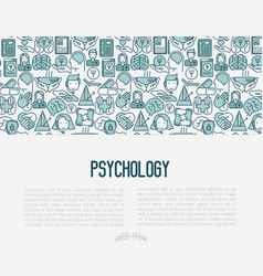 psychological help concept with thin line icons vector image