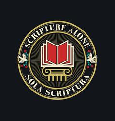 Scripture alone vector