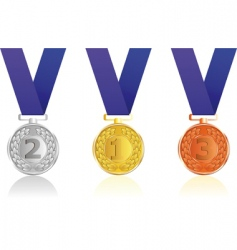 set award ribbons vector image