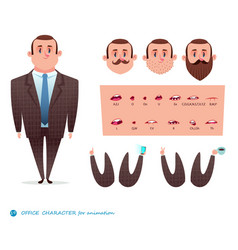 set for character speaks animationsmen s suit vector image
