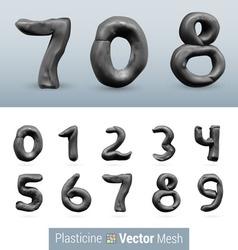 Set of color plasticine figure vector