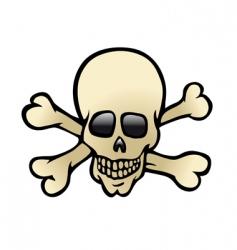 skull crossbones vector image