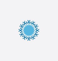snowflake element symbol icon vector image