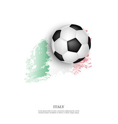 soccer ball on italian flag vector image