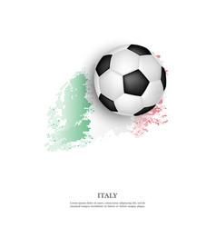 Soccer ball on italian flag vector