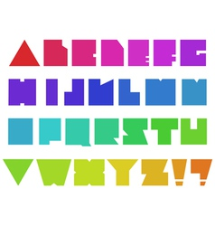 square alphabet vector image