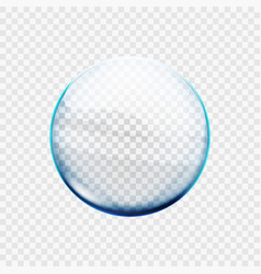stock glass transparent sphere vector image