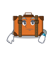 Suitcase with in cartoon waiting shape vector