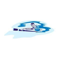 swim vector image