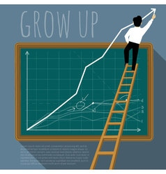template of growing chart vector image