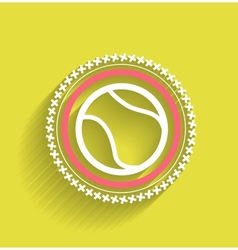 tennis ball icon flat modern icon vector image