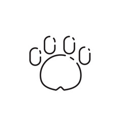 Thin line dog paw icon vector