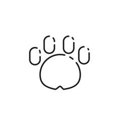 Thin line dog paw icon vector