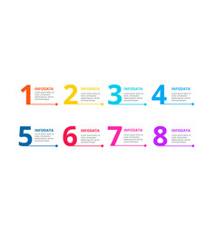 Thin lines with 8 numbers for infographic vector