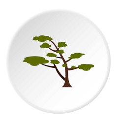 Tree with crown icon circle vector