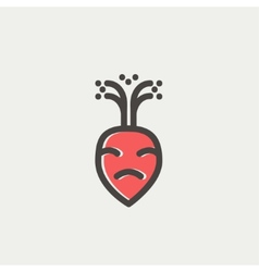 Turnip thin line icon vector