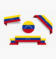 venezuelan flag stickers and labels vector image