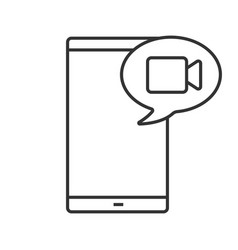 video message or call linear icon vector image