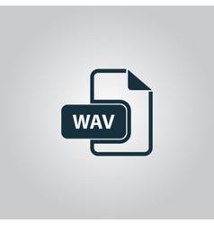 WAV audio file extension icon vector