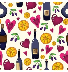 Wine seamless background in Used clipping mask vector image