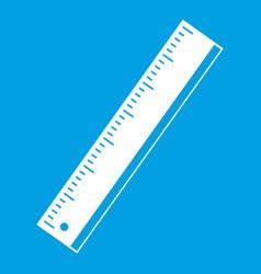 yardstick icon white vector image