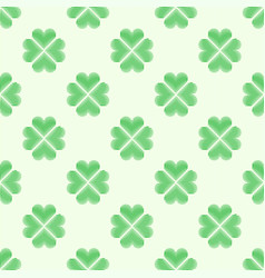 clover leaf embroidery floral background green on vector image vector image