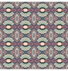 geometry vintage floral seamless pattern vector image vector image