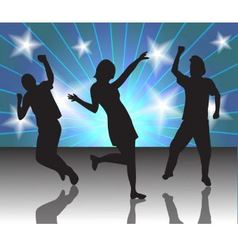 people in a disco vector image