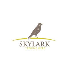 skylark wildlife bird sign vector image vector image