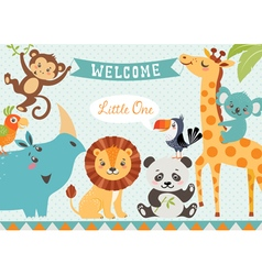 Welcome baby vector image vector image