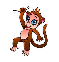 cartoon monkey isolated vector image