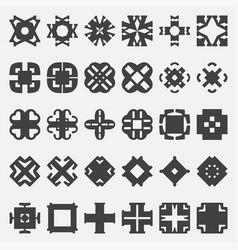 Design elements set tribal cross vector
