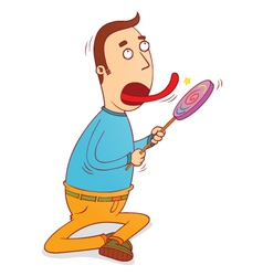lollipop licker vector image
