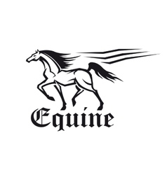Equestrian sporting symbol of running racehorse vector image vector image