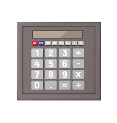 gray calculator on a white background vector image vector image