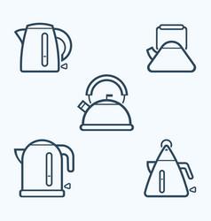 kettle icon set symbol vector image vector image