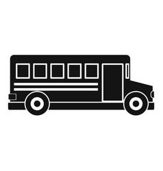 school bus icon simple style vector image