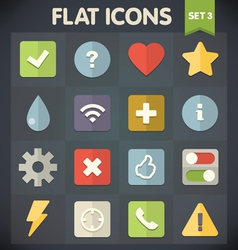 Universal Flat Icons for Applications Set 3 vector image vector image