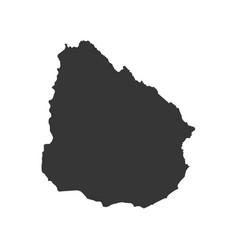 uruguay map silhouette vector image